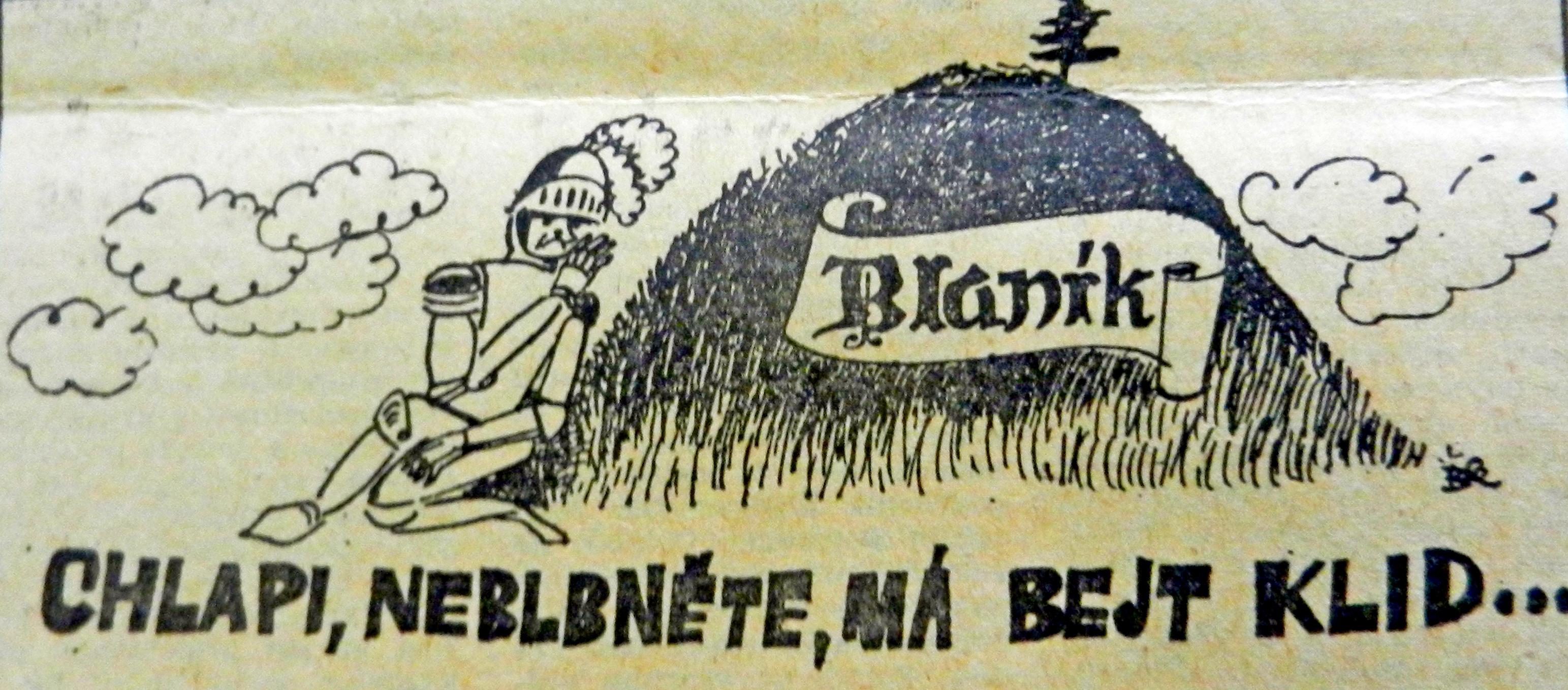 karikatura zPrůboje 12.9.1968