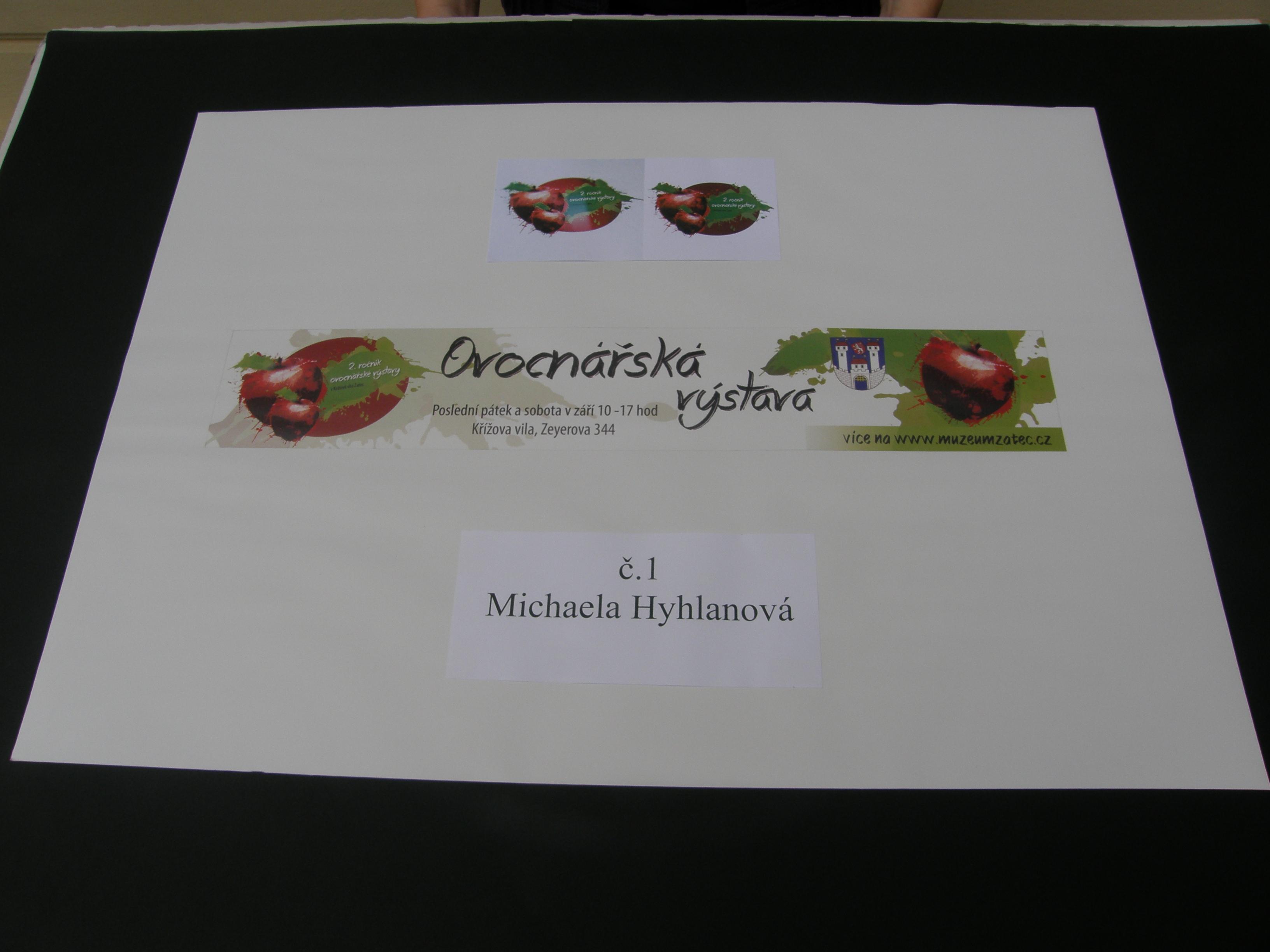 2. místo návrh Michaely Hyhlanové