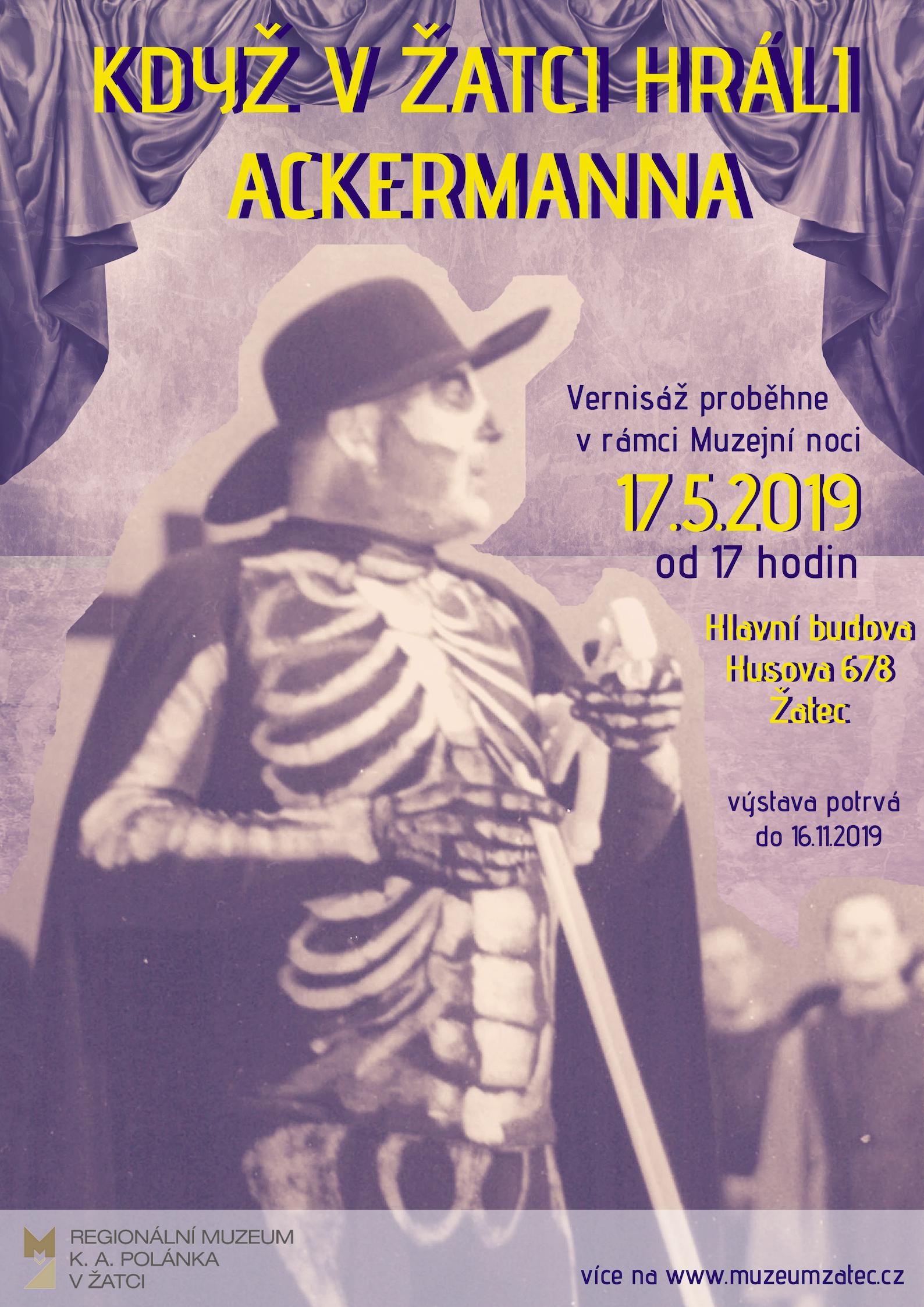_plakát kvýstavě Ackermann
