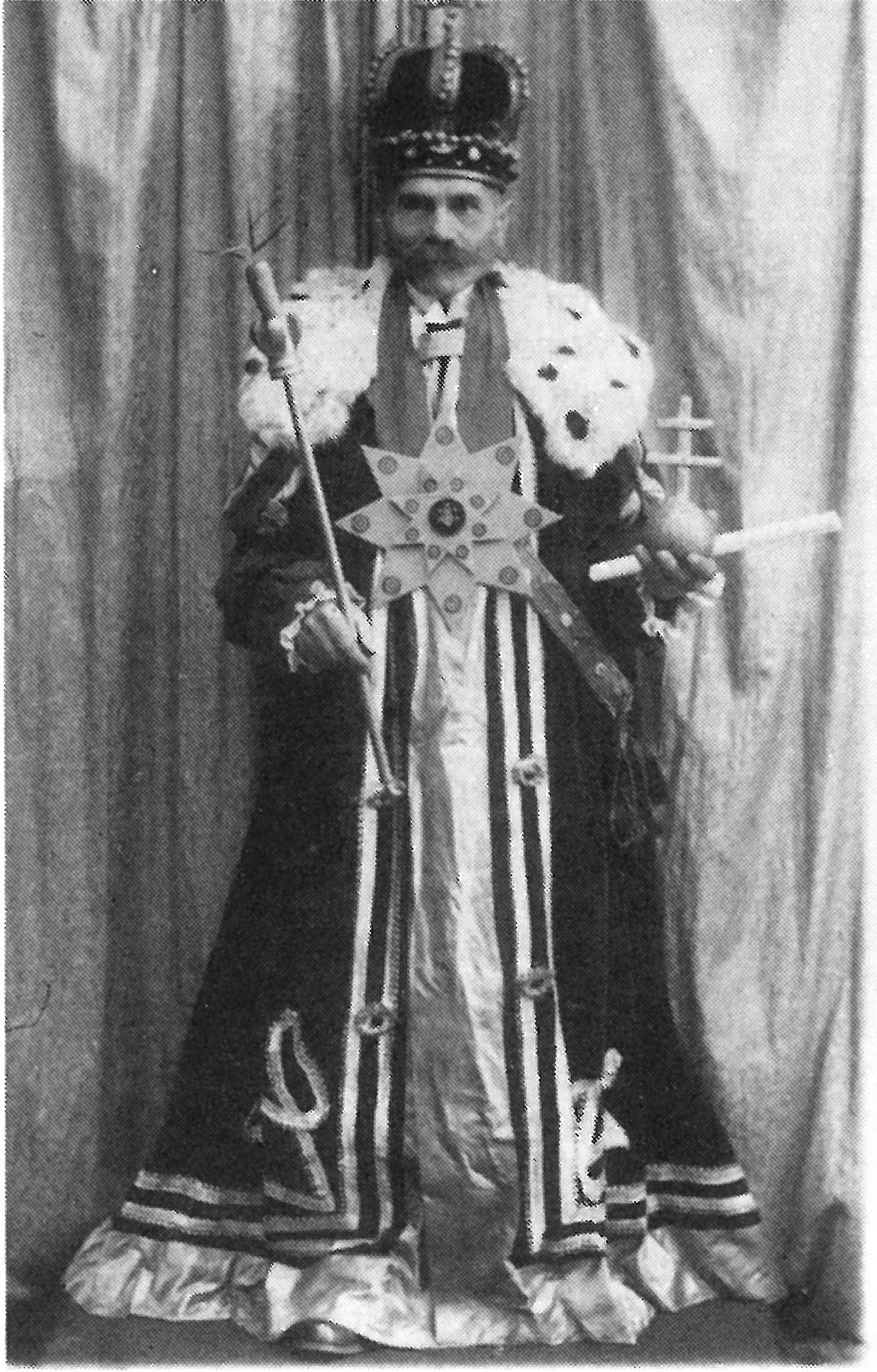 3. Okurkový král zvolený roku 1930. Střelnice
